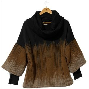 Melow Oversized  Cowl Neck Western Style Sweater